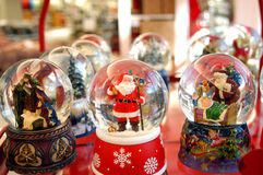 Natale dei globi della neve Immagine Stock