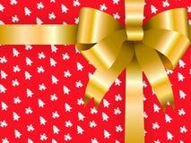 Natale del contenitore di regalo del fondo Fotografie Stock Libere da Diritti