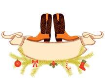 Natale del cowboy Immagine Stock Libera da Diritti