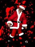 Natale del padre delle zombie Fotografia Stock