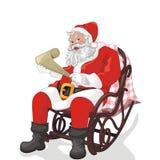 Natale del padre e del Babbo Natale Fotografie Stock