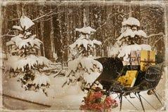 Natale del paese Fotografia Stock
