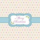 Natale del puntino di Polka royalty illustrazione gratis