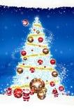 Natale del tabellone per le affissioni del manifesto su fondo blu Fotografia Stock