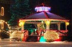 Natale del villaggio Fotografie Stock