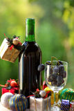 Natale del vino rosso Fotografia Stock Libera da Diritti
