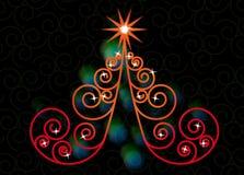 Natale dell'albero di turbinio Fotografie Stock
