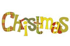 Natale dell'iscrizione Immagini Stock Libere da Diritti