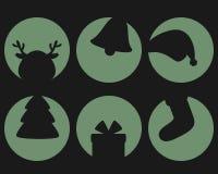 Natale dell'ombra fissato Immagini Stock