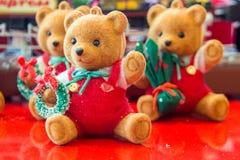 natale della bambola dell'orso Immagini Stock Libere da Diritti