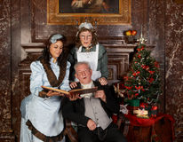Natale della famiglia Fotografia Stock Libera da Diritti
