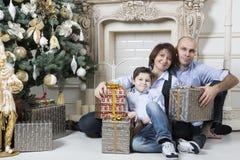 Natale della famiglia Fotografia Stock