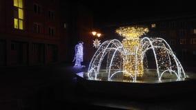 Natale della fontana Immagini Stock Libere da Diritti