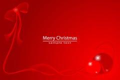 Natale della scheda rossa illustrazione di stock