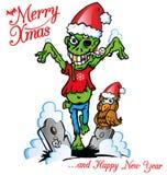 Natale dello zombie Fotografia Stock Libera da Diritti