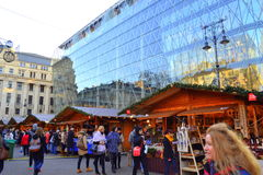 Natale di Budapest giusto fotografia stock libera da diritti