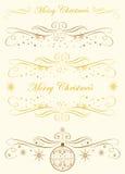 Natale di calligrafia Monogram.Merry Illustrazione di Stock