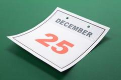Natale di giorno di calendario Immagine Stock Libera da Diritti