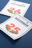 Natale di giorno di calendario Fotografia Stock Libera da Diritti