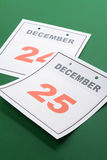Natale di giorno di calendario Fotografia Stock