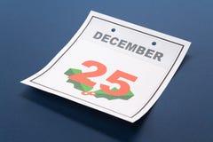 Natale di giorno di calendario Fotografie Stock Libere da Diritti