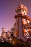 Natale di Helter Skelter Edinburgh giusto fotografie stock libere da diritti