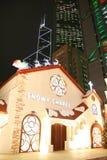 Natale di Hong Kong Fotografie Stock Libere da Diritti