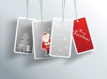 Natale di inverno che appende le carte Fotografie Stock Libere da Diritti