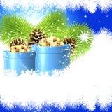 Natale di lusso del fondo Fotografie Stock