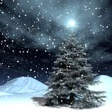 Natale di nevicata Fotografia Stock