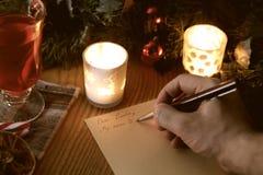 Natale di scrittura della mano Fotografie Stock