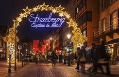 Natale di Strasburgo capitale Fotografia Stock