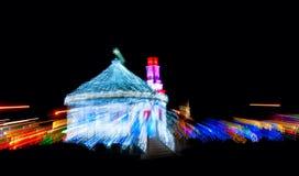 Natale di velocità del filo di ordito Fotografie Stock