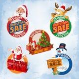 Natale di vendita degli autoadesivi illustrazione di stock