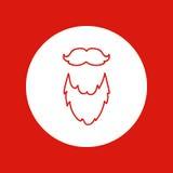 Natale disegnato a mano icona, linea rossa, isolata nel bianco royalty illustrazione gratis