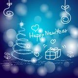 Natale e buon anno astratti del fondo illustrazione di stock