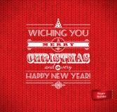 Natale e buon anno che letteting Immagine Stock Libera da Diritti
