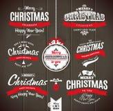 Natale e buon anno che letteting Fotografie Stock Libere da Diritti