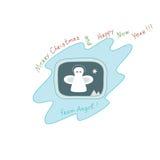 """Natale e buon anno """"Merry dal  di Angel†Fotografia Stock"""