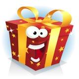 Natale e carattere del contenitore di regalo di compleanno Fotografia Stock