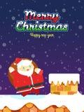 Natale e carta del buon anno Fotografia Stock Libera da Diritti