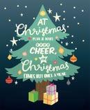 Natale e cartolina d'auguri del buon anno Fotografie Stock Libere da Diritti
