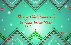 Natale e cartolina d'auguri dell'nuovo anno Fotografia Stock