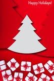 Natale e cartolina d'auguri di feste Fotografia Stock