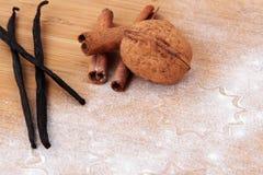 Natale e fondo di cottura di festa Immagine Stock