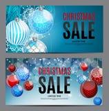 Natale e fondo di vendita del nuovo anno, modello del buono di sconto Immagini Stock Libere da Diritti
