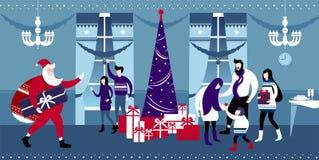Natale e notte di San Silvestro illustrazione vettoriale