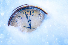 Natale e 2016 nuovi anni di vigilia Fotografie Stock