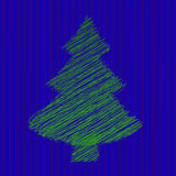 Natale e nuovo anno dell'abete di vettore Fotografia Stock Libera da Diritti