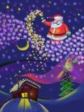 Natale e nuovo anno, il Babbo Natale Fotografia Stock Libera da Diritti